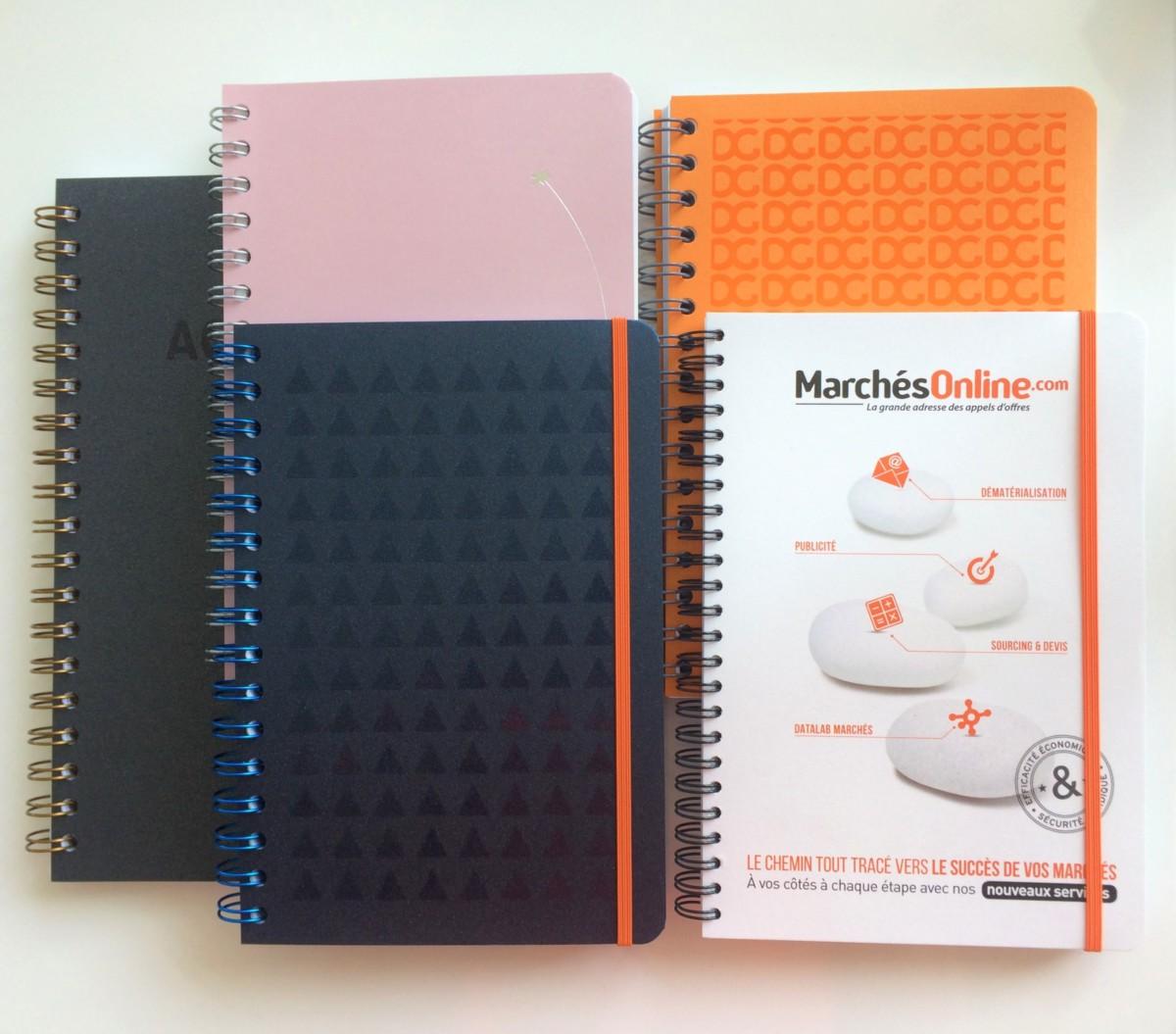 carnets personnalisés nacrés par The Concept Book