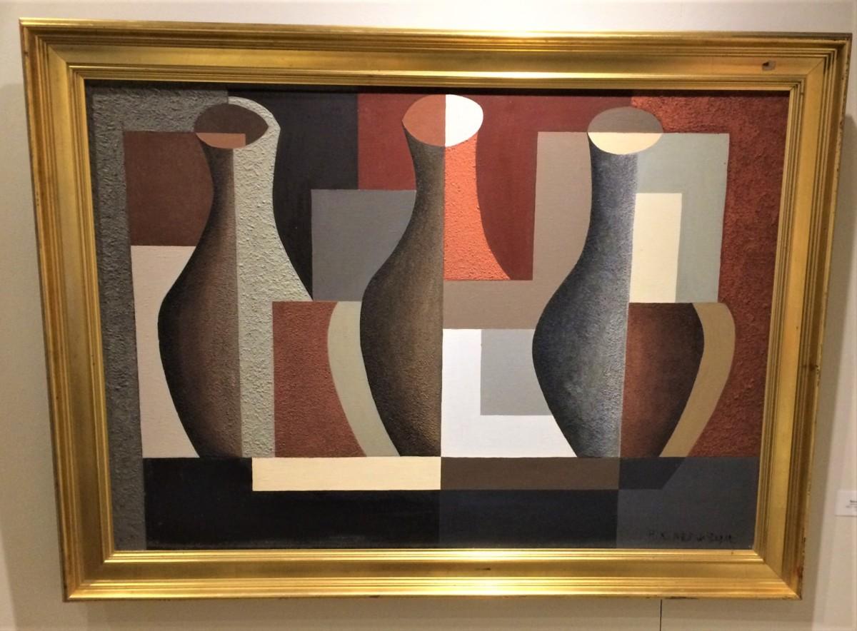 Carnet de visite : Composition aux trois vases réalisé en 1925 par Nadia Khodossievitch-Léger