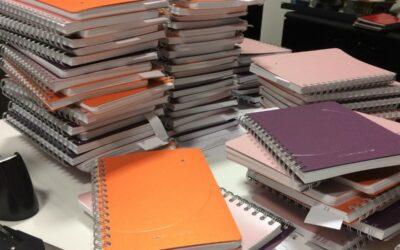 Opération vœux avec des cahiers personnalisés…